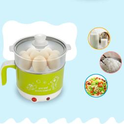 1.8L Electric Stainless Pot Noodles Rice Cooker Mini Heating
