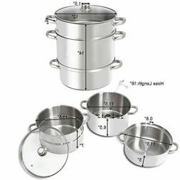 11-Quart Stainless Steel Fruit Juicer Steamer Stove Top w/ T