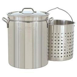 Bayou Classic 1136, 36-Qt. Stainless Fryer/Steamer with Vent