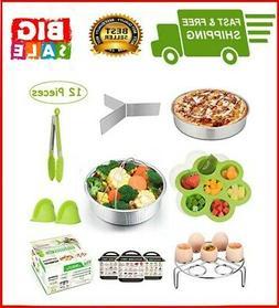 12 Pieces Instant Pot Accessories Set Fits 6 to 8 Quart Cook