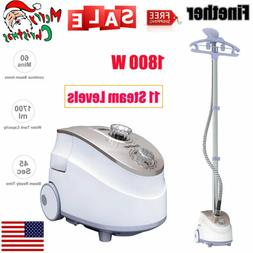 1800W Standing Clothes Fabric Steamer Iron Steam Wrinkle Rem