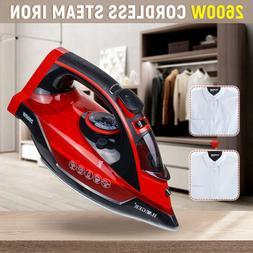 2600W 5 Gear Cordless Handheld Steam Iron Fabric Clothes Lau