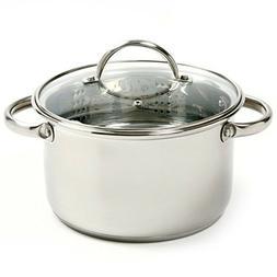 3 PIECE MINI POT PAN STAINLESS STEEL VEGETABLE FOOD STEAMER