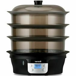 3 Tier 20qt Electric Food Steamer Digital Vegetable Pot Cook