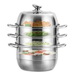 4 Tier Stainless Steel 304 Steamer Steam Pot Set Cooker Cook
