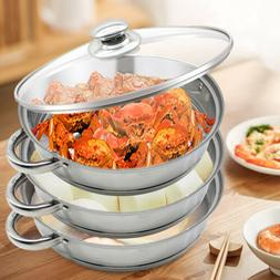 3Tier Steamer Cooker Steam Pot Food Cooking Hot Pot Stainles