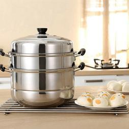 3tier steamer cooker Steam pot Stainless Steel Kitchen Cookw