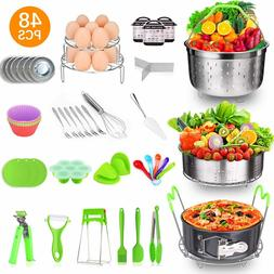 48 Pcs Pressure Cooker Accessories Set with 2 Steamer Basket