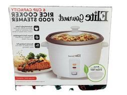 6 Cup Capacity Rice Cooker Food Steamer Elite Gourmet ERC 00