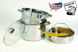 Calphalon Classic Stainless Steel 8 quart Stock Pot with Ste