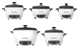 BLACK+DECKER RC500 Rice Cooker and Food Steamer, 6 Sizes