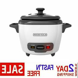 BLACK+DECKER RC506 Uncooked Rice Cooker 6-cup White and Food