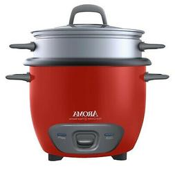 Brand New Aroma Housewares 6-Cup Pot Style Rice Cooker and F