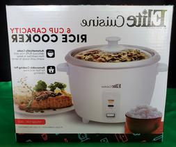 ELITE CUISINE by Maxi-Matic 6 Cup RICE COOKER - nib