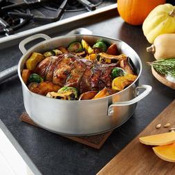 Calphalon Classic Stainless Steel Cookware, Dutch Oven, 5-Qu