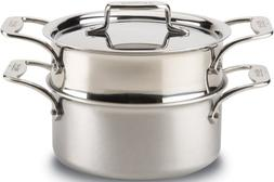 All-Clad d5 Brushed Stainless 3 qt. Casserole w/Steamer
