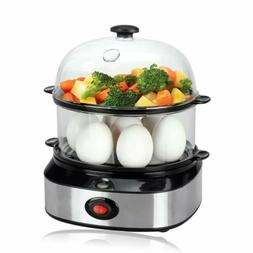 Double Layer Electric Multi Function Egg Cooker Vegetable Fo