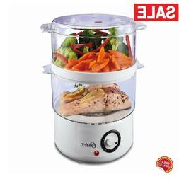 Electric Steamer Cooker Food Countertop Vegetable Pot Basket