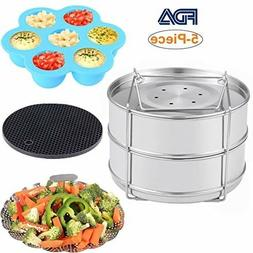 Instant Pot Accessories - Stackable Stainless Steel Food Ste