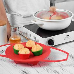 Kitchen Tool Vegetable Steamer Basket Heat-Resistant Silicon