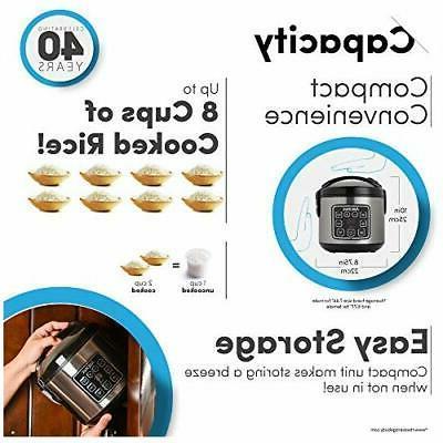Aroma 2-8 Cup Digital Rice &