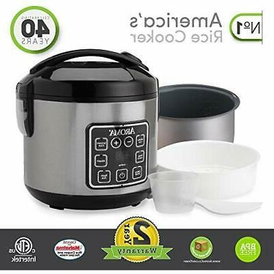 Aroma Housewares Digital Rice Cooker & Stainless