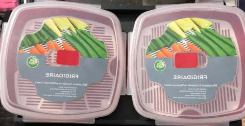 2 pack mocrowave containers steamer insert