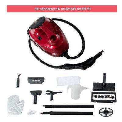 2000W Heavy Duty Steam Cleaner Mop Multi-Function W/19 Acces