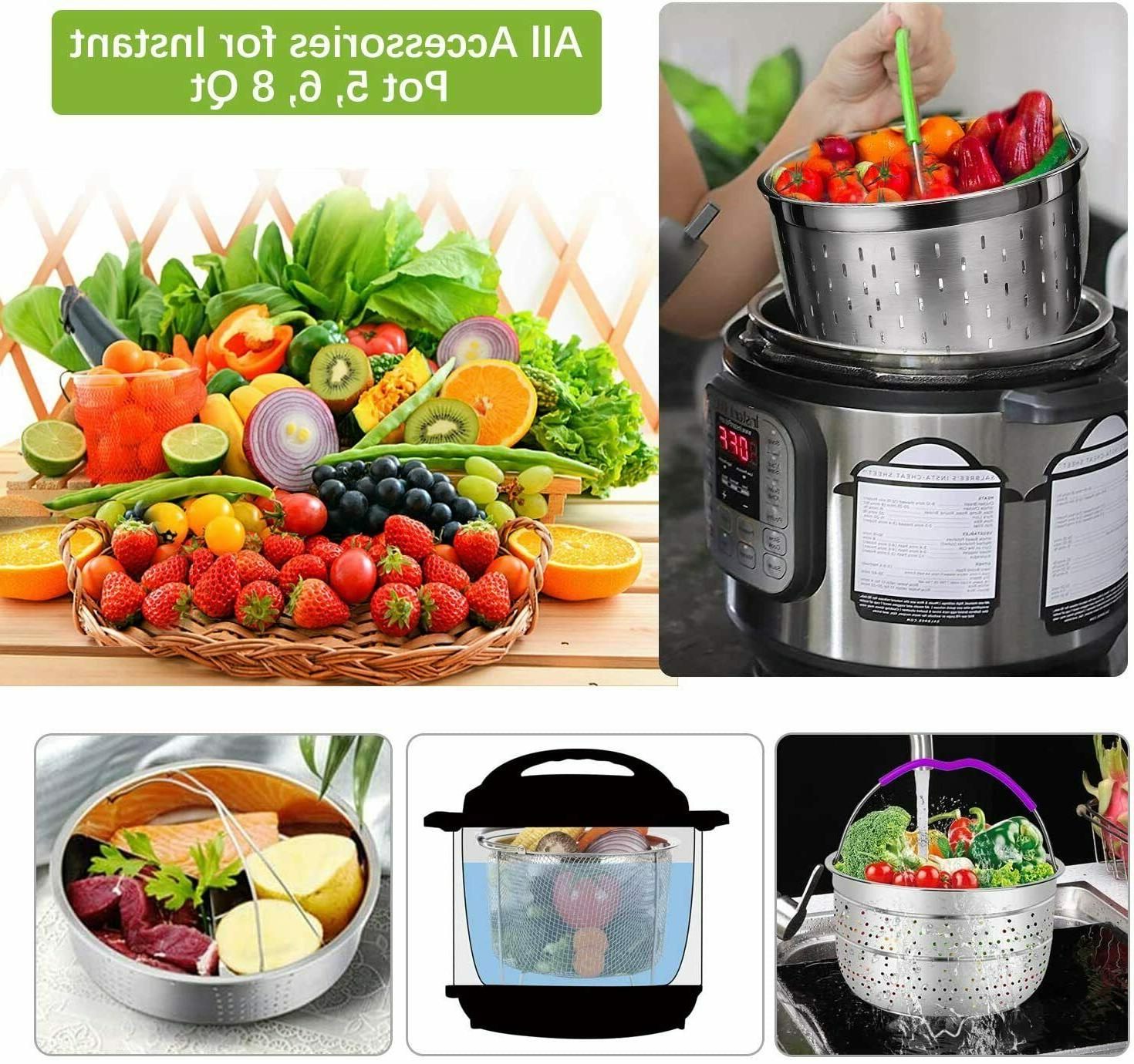 """48 Pcs Pressure Accessories with Steamer Baskets, 7"""" Pan"""
