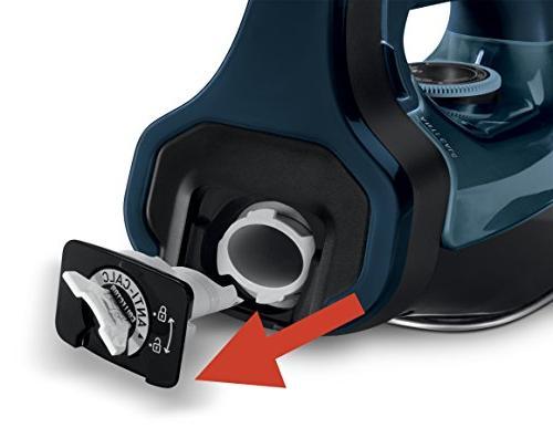 Rowenta 1750-Watt Stainless Steel Auto-Off, 400-Hole Anti-Calc Iron Blue