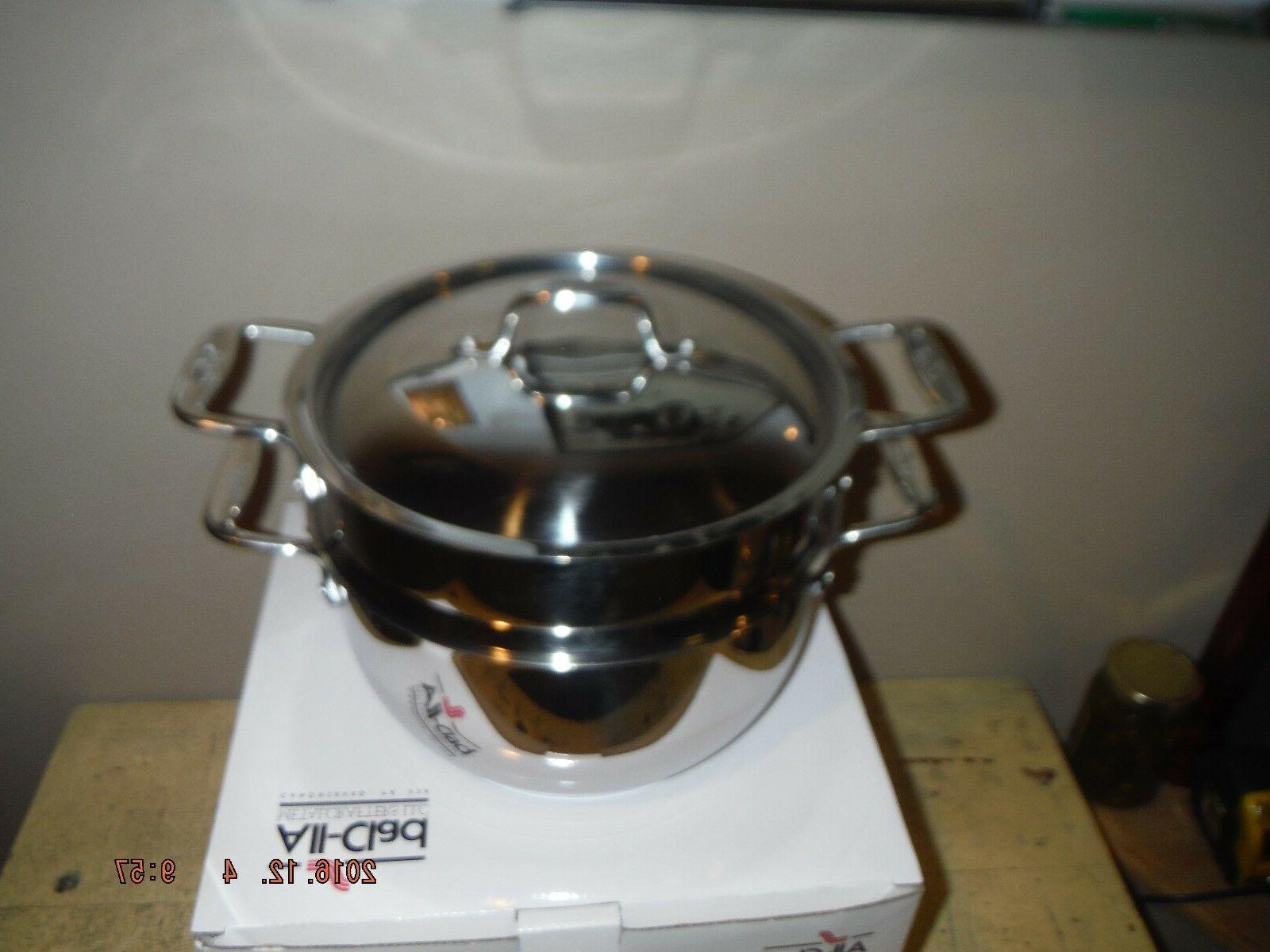 All Clad 2-piece STEAMER Stainless Steel NEW in