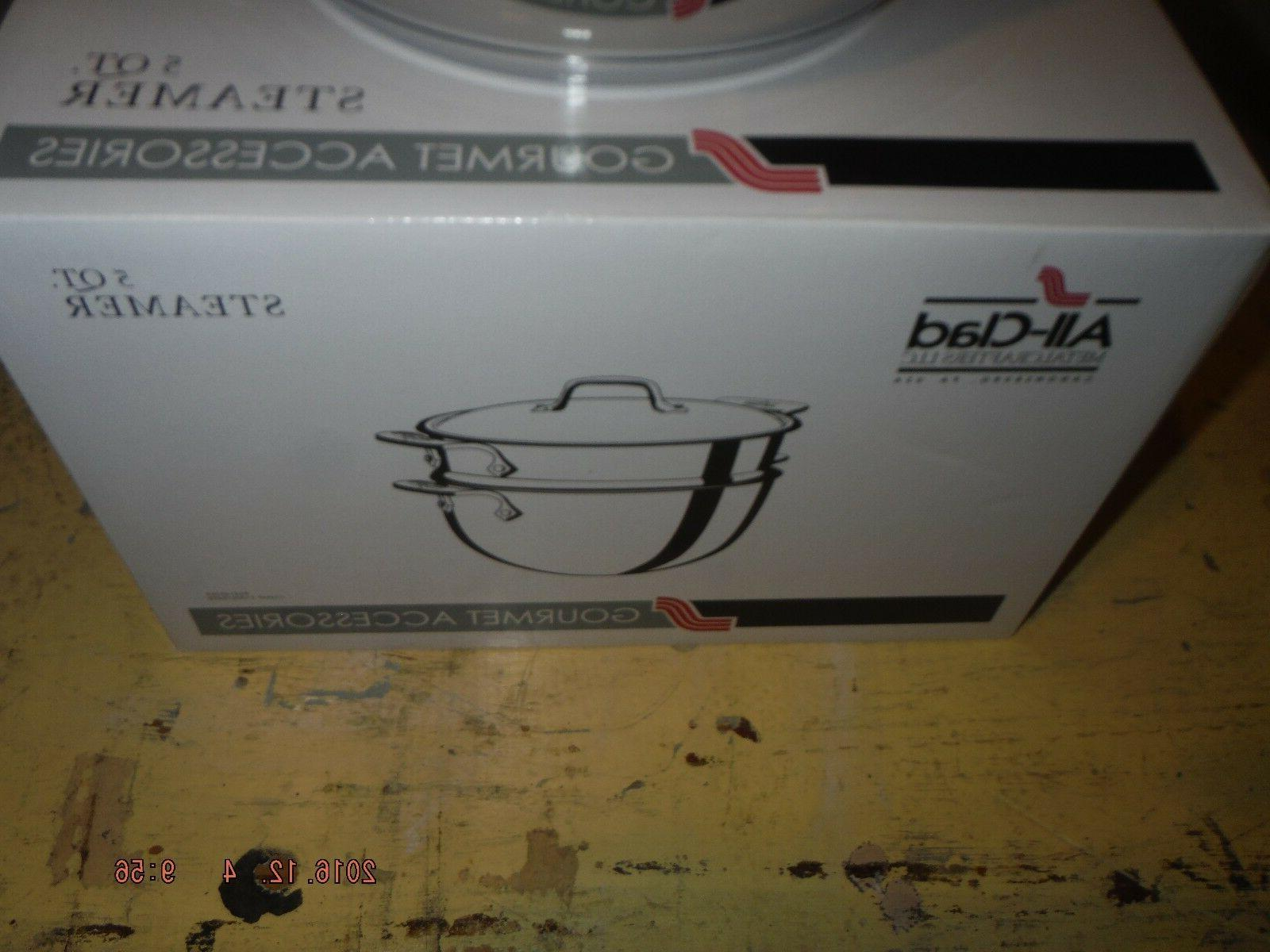 All 2-piece STEAMER Stainless Steel #E414S564 NEW in box