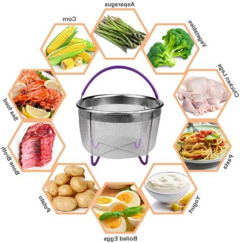 Pressure Cooker Accessories Set Springform Pan,Steamer Basket,Egg Steamer Rack