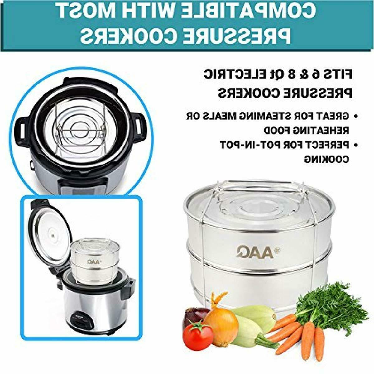 Stackable Steamer Pot Instant 8 6 Cookers Quart