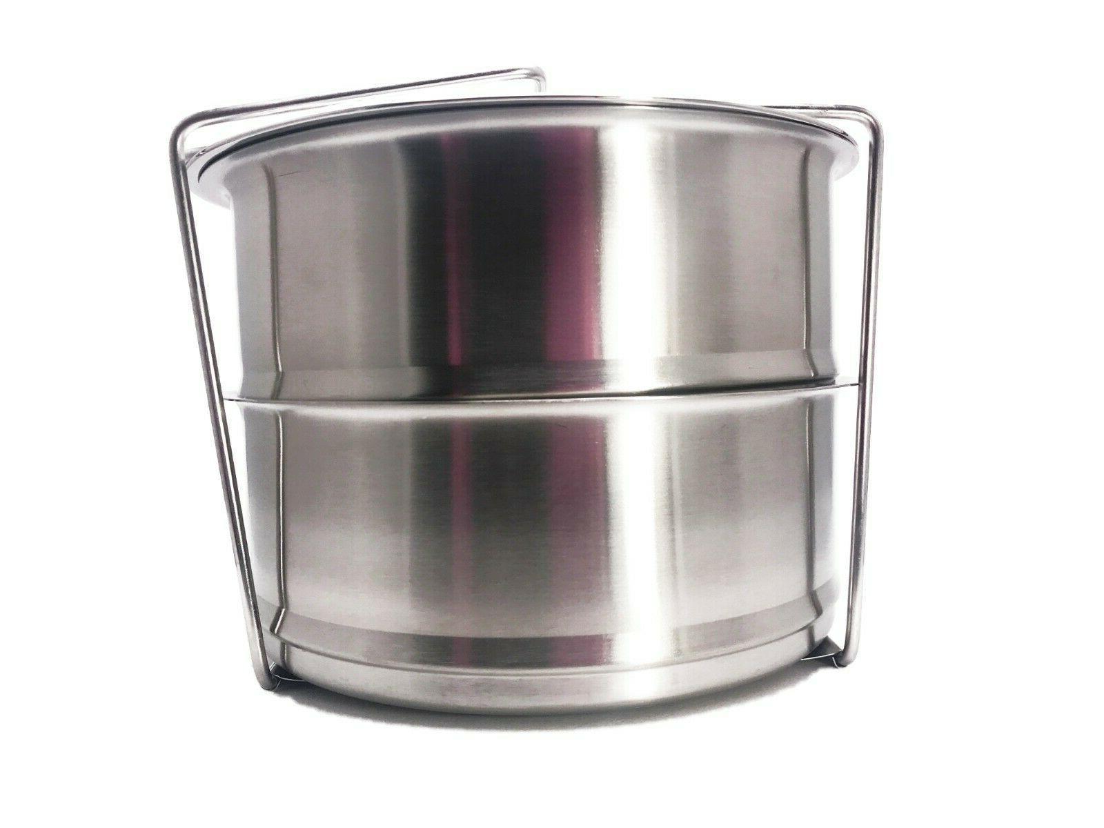 Instant -8 Stackable Steel Steamer Pans