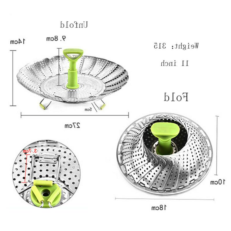 Stainless Steel For Cooking Basket Steamer Extendable