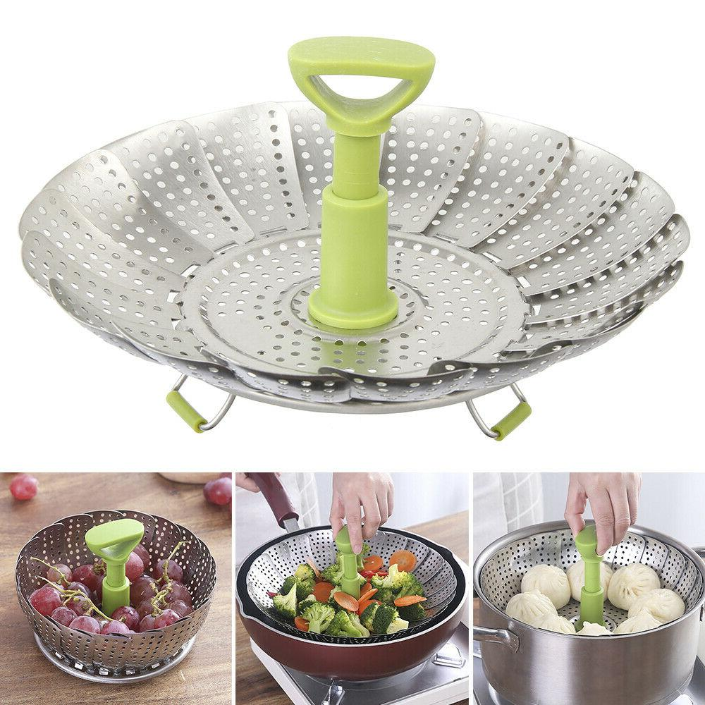 stainless steel vegetable steamers for cooking basket