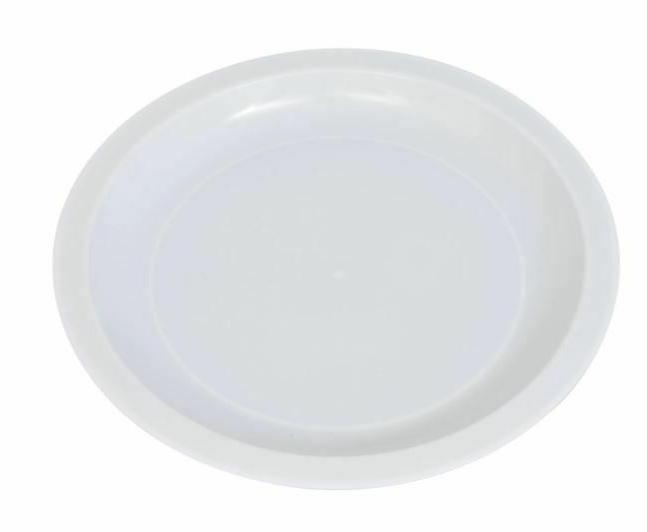 White Microwaveable Plate
