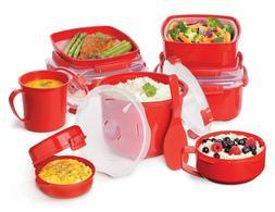 Sistema Microwave Lunch Box Bowl Steamer Poridge Noodles Sou