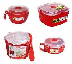 Sistema Microwave Rice Vegetable Noodle Steamer Bowl Porridg