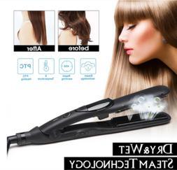 Professional Steam Hair Straightener steam infusion treatmen