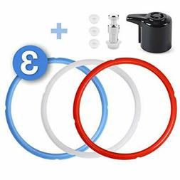 TAEERY Silicone Sealing Rings Instant Pot Accessories Steam