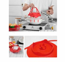 Silicone strainer Food Vegetable Steamer Basket Heat-Resista
