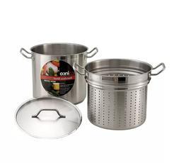 Winco SSDB-8S 8 qt Master Cook Steamer Pasta Cooker w/ Cover