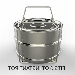 Stackable Stainless Steel Pressure Cooker Steamer Insert Pan