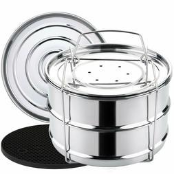 Stackable Steamer Insert Pan For Instant Pot Vegetable Casse