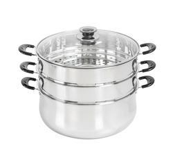 CONCORD Stainless Steel 3 Tier Steamer Steam Pot Cookware Av