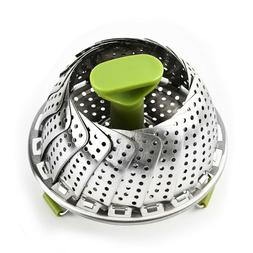 Stainless Steel Expandable Steamer Foldable Steam Food Baske