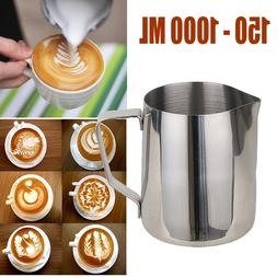 Stainless Steel Milk Cup Frothing Pitcher Steam Espresso Cof