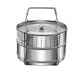 Stainless Steel Steamer 6/8Qt Pressure Cooker Food Instant P